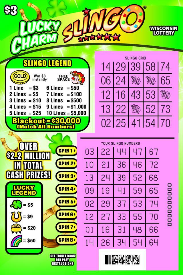 Lucky Charm Slingo (2046) | Wisconsin Lottery