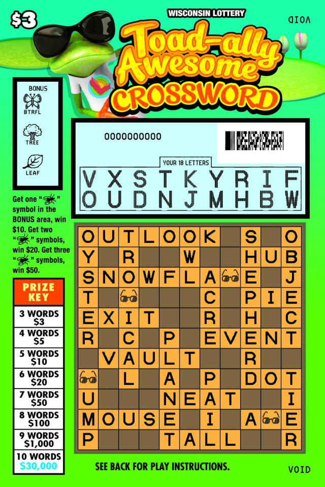 WI-Lottery-2163-Scratch-Game-Toad-Ally-Awesome-Crossword-Scratched