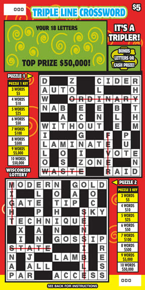 Triple Line Crossword (361)