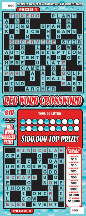Red Word Crossword (391)