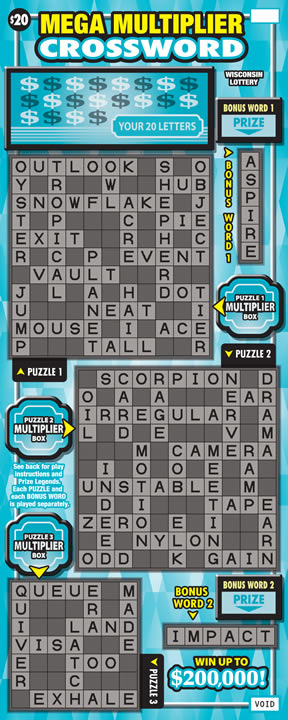 Mega Multiplier Crossword (564)