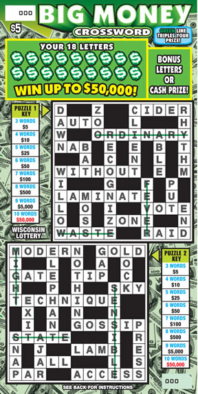 Big Money Crossword (572)